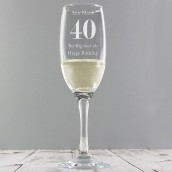 personalised age champagne flute