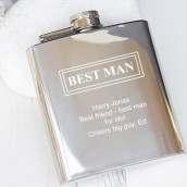 engraved best man hip flask