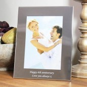 personalised 5x7 silver photo frame