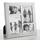 personalised silver multi photo frame
