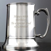 personalised steel pint tankard
