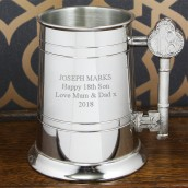 18th pewter beer tankard