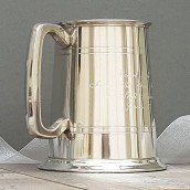 pewter beer tankard