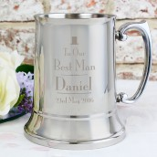 engraved best man tankard