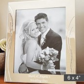 engraved 6x4 crystal photo frame