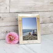 personalised silver photo frame 3x5