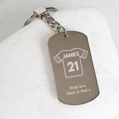 personalised football keyring