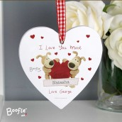 personalised heart tree decoration
