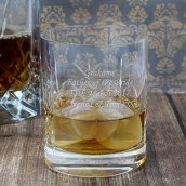 engraved whiskey tumbler