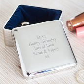 engraved square trinket box