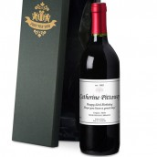 personalised red wine gift