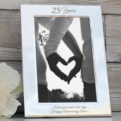 engraved wedding anniversary photo frame
