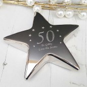 engraved star paperweight