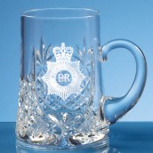 engraved crystal tankard