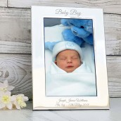 engraved baby boy photo frame