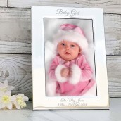 baby girl engraved photo frame