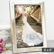 personalised slim 6x8 silver photo frame