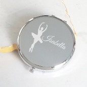 personalised ballerina compact mirror