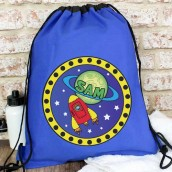 personalised space swim bag
