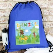 personalised boys animal kit bag