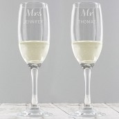 personalised wedding flutes