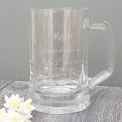 engraved half pint tankard