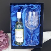 engraved crystal wine glass