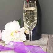 crystal champagne flute personalised
