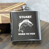 peronalised fishing hip flask