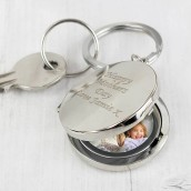 engraved locket keyring