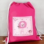 personalised fairy gym kit bag