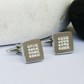 silver cufflinks engraved