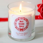 personalised Christmas fragrance candle