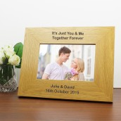 engraved 6x4 wooden photo frame