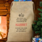 Personalised christmas sack