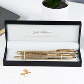 personalised gold pen