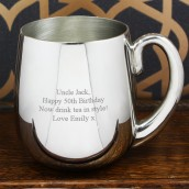 engraved stout tankard