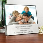 engraved 7x5 glass block photo frame