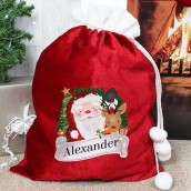 luxury christmas sack