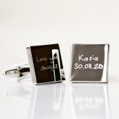 engraved handwriting cufflinks