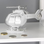 engraved helicopter money box