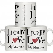 personalised i really love mug