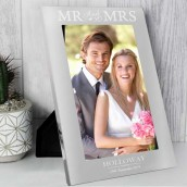 engraved Mr and Mrs photo frame