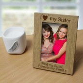 personalised sisters photo frame
