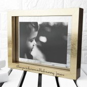 personalised gold photo frame