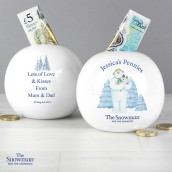 the snowman money box