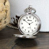 ... engraved silver pocket watch ...