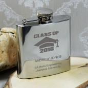 engraved graduation hip flask class of