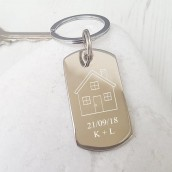 engraved house keyring