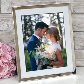 personalised 10x8 mounted photo frame